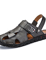 cheap -Men's Nappa Leather Summer Comfort Sandals Black / Gray / Brown