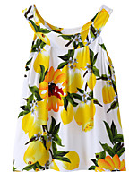 cheap -Kids / Toddler Girls' Lemon Fruit Sleeveless Dress