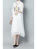 abordables -Mujer Blusa - Un Color / Floral Vestidos