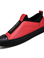 cheap -Men's PU(Polyurethane) Winter Comfort Loafers & Slip-Ons Gold / Black / Red