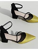 preiswerte -Damen Schuhe Kunststoff Frühling / Herbst Komfort / Pumps High Heels Blockabsatz Grau / Gelb