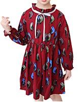 cheap -Kids Girls' Cartoon Long Sleeve Dress