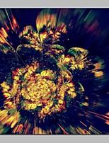 Недорогие -С картинкой Отпечатки на холсте - фантазия / Цветочные мотивы / ботанический Modern