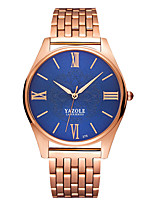 baratos -YAZOLE Homens Relógio de Pulso Relógio Casual / Legal Aço Inoxidável Banda Luxo / Minimalista Ouro Rose