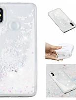 Недорогие -Кейс для Назначение Xiaomi Redmi Note 5 Pro / Mi 8 Движущаяся жидкость / С узором / Сияние и блеск Кейс на заднюю панель Сияние и блеск / одуванчик Мягкий ТПУ для Xiaomi Redmi Note 5 Pro / Xiaomi