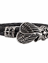 cheap -Men's Stylish / Mismatched Leather Bracelet / Loom Bracelet - Titanium Steel Wings Unique Design, European, Trendy Bracelet Silver For Gift / Street