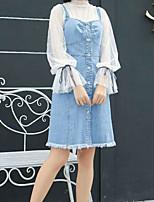 abordables -Mujer Blusa - Un Color Falda