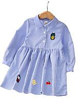 economico -Bambino Da ragazza A strisce / Frutta Manica lunga Vestito