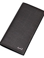 cheap -Men's Bags Faux Leather Wallet Zipper Black / Coffee / Dark Brown