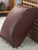 cheap -1 pcs Leather / suede Pillow, Solid Colored Simple
