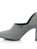 cheap -Women's Shoes Sheepskin Spring / Fall Comfort / Basic Pump Heels Stiletto Heel Black / Gray