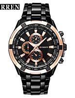 abordables -CURREN Hombre Reloj de Vestir / Reloj de Pulsera Chino Resistente al Agua / Nuevo diseño / LCD Aleación Banda Casual / Moda Negro / Marrón