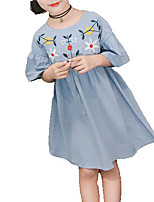 cheap -Kids Girls' Solid Colored Half Sleeve Dress