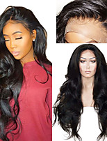 cheap -Synthetic Wig / Synthetic Lace Front Wig Wavy Layered Haircut Synthetic Hair With Baby Hair / Soft / Heat Resistant Black Wig Women's Long Lace Front / African American Wig / Yes / Natural Hairline