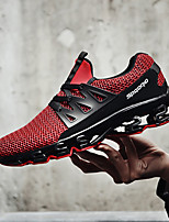 cheap -Men's Running Shoes Rubber Running / Jogging Lightweight, Anti-Shake / Damping, Breathability Tulle White / Black / Red
