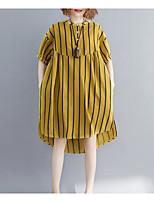 Недорогие -Жен. С кисточками Блуза Винтаж Однотонный / Геометрический принт Черное и белое