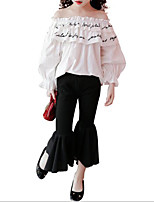 cheap -Kids Girls' Print / Patchwork Long Sleeve Clothing Set