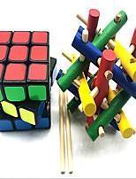 economico -cubo di Rubik z-cube L'artigianato in legno / Scramble Cube / Floppy Cube 3*3*3 Cubo Cubi di Rubik Cubo a puzzle Stress e ansia di soccorso / Libera ADD, ADHD, Ansia, Autismo Regalo Tutti