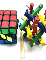 preiswerte -Zauberwürfel z-cube Holz-Handwerk Scramble-Würfel / Floppy-Würfel 3*3*3 Glatte Geschwindigkeits-Würfel Rubiks Würfel Puzzle-Würfel Stress und Angst Relief Lindert ADD, ADHD, Angst, Autismus Teen