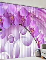 preiswerte -3D Vorhänge Schlafzimmer Geometrisch Polyester Bedruckt / Verdunkelung