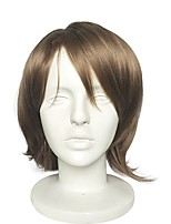 cheap -Synthetic Wig Curly Layered Haircut / Middle Part Synthetic Hair 10 inch Anime / Cosplay / Party Brown Wig Women's Short Capless Ash Brown