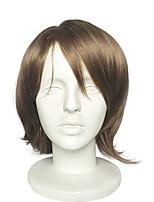 abordables -Pelucas sintéticas Rizado Corte a capas / Parte media Pelo sintético 10 pulgada Anime / Cosplay / Fiesta Marrón Peluca Mujer Corta Sin Tapa