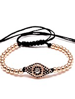 cheap -Men's Synthetic Tanzanite Braided Strand Bracelet - Creative Ethnic, Fashion Bracelet Black / Silver / Rose Gold For Party / School