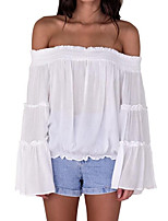 cheap -women's going out shirt - solid colored strapless