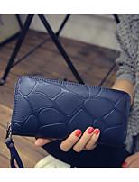 cheap -Women's Bags PU(Polyurethane) Wallet Zipper Black / Purple / Silver