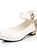 Недорогие -Девочки Обувь Полиуретан Весна & осень Детская праздничная обувь Обувь на каблуках Стразы для Дети Белый / Черный / Красный