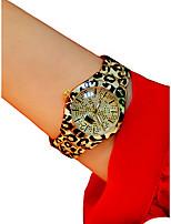 Недорогие -Жен. Наручные часы Секундомер / Светящийся / Повседневные часы сплав Группа Блестящие / Кольцеобразный Белый / Серебристый металл / Золотистый