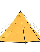 cheap -Naturehike 8 pcs Family Tent Double Layered Poled Camping Tent Outdoor Windproof, Lightweight, Rain-Proof for Camping / Hiking / Caving / Traveling / Picnic 2000-3000 mm Oxford Cloth, Polyster