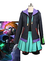cheap -Inspired by LOL Cosplay Anime Cosplay Costumes Cosplay Suits Other Long Sleeve Coat / Top / Skirt For Unisex