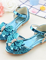 cheap -Boys' / Girls' Shoes Faux Leather Spring & Summer Flower Girl Shoes Sandals Bowknot for Kids Gold / Blue / Pink