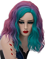 cheap -Wig Accessories / Synthetic Wig Wavy Middle Part Synthetic Hair Fashionable Design / Party Blue / Purple Wig Women's Short Capless