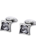 cheap -Geometric Silver Cufflinks Crystal / Copper Butterfly Simple / Basic Men's Costume Jewelry For Gift