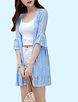 cheap -Women's Basic Off Shoulder Cover-Up - Solid Colored Lace Boy Leg