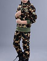 Недорогие -Дети Мальчики Классический Однотонный Длинный рукав Набор одежды