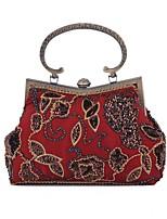 preiswerte -Damen Taschen Polyester Abendtasche Stickerei Schwarz / Rote