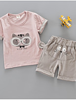cheap -Toddler Girls' Geometric / Print Short Sleeve Clothing Set