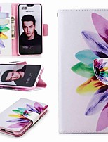 cheap -Case For Huawei Honor 10 / Huawei Honor 7A Wallet / Card Holder / with Stand Full Body Cases Flower Hard PU Leather for Honor 8 / Honor 7X / Huawei Honor 7C(Enjoy 8)