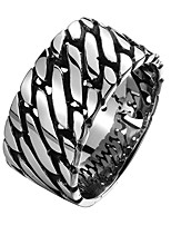 cheap -Men's Braided Band Ring - Stainless Creative Vintage, Punk 8 / 9 Black For Date / Street
