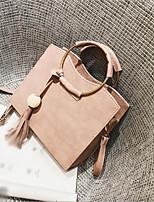cheap -Women's Bags PU(Polyurethane) Shoulder Bag Tassel Black / Blushing Pink / Gray
