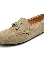 cheap -Men's Moccasin Suede Spring / Fall Loafers & Slip-Ons Dark Blue / Wine / Khaki