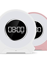 cheap -NOGO F9 Bluetooth Speaker / FM Radio / LED Lighting Bluetooth 4.2 3.5mm AUX / TF Card Slot Bookshelf Speaker / Desk & Shelf Clocks / Smart Lights White / Pink
