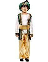 preiswerte -Cosplay Austattungen Jungen Halloween / Karneval / Kindertag Fest / Feiertage Halloween Kostüme Dunkelgrün Solide / Halloween Halloween
