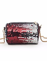 cheap -Women's Bags PU(Polyurethane) Shoulder Bag Sequin Red / Blushing Pink / Rainbow