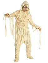 cheap -Zombie Costume Boys' Halloween Carnival Masquerade Festival / Holiday Halloween Costumes Outfits Beige Solid Colored Halloween Horror Halloween