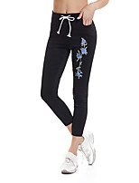 cheap -Women's Daily / Going out Sporty / Basic Legging - Solid Colored / Floral Mid Waist