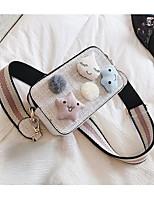 cheap -Women's Bags Synthetic Shoulder Bag Zipper Beige / Gray / Khaki
